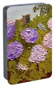 Hydrangeas On The Creek Bank Portable Battery Charger