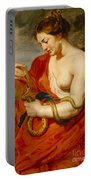 Hygeia - Goddess Of Health Portable Battery Charger by Peter Paul Rubens