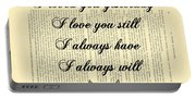 I Always Will Love You Portable Battery Charger
