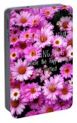 I Believe In Pink Daisies Portable Battery Charger
