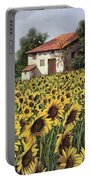 I Girasoli Nel Campo Portable Battery Charger