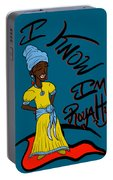 I Know Im Royalty Girl Portable Battery Charger