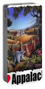 I Love Appalachia - Coon Gap Holler Country Farm Landscape 1 Portable Battery Charger