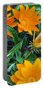 I Love Orange Flowers Portable Battery Charger