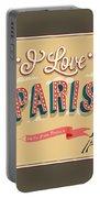 I Love Paris Portable Battery Charger