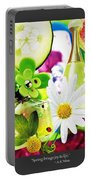 I Love Spring_with Border Portable Battery Charger