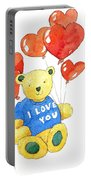 I Love You Bear Portable Battery Charger