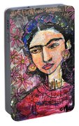 I Paint Flowers So They Will Not Die Portable Battery Charger