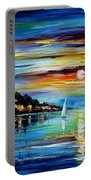 I Saw A Dream - Palette Knife Oil Painting On Canvas By Leonid Afremov Portable Battery Charger