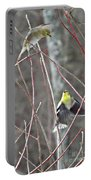 I See You Two Birds In Flight Portable Battery Charger