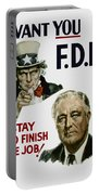 I Want You Fdr  Portable Battery Charger