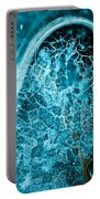 Ice Abstract Deep Blue Portable Battery Charger
