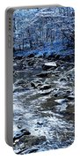 Ice Blue Forest Portable Battery Charger