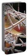 Ice Cage - Female Cardinal Portable Battery Charger