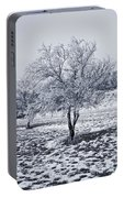 Ice Covered Tree Portable Battery Charger