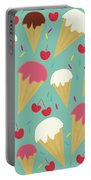 Ice Cream Cones Portable Battery Charger
