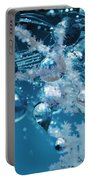 Ice Flower Abstract Portable Battery Charger