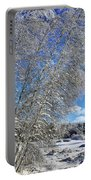 Ice Laden Birches Portable Battery Charger