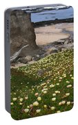 Ice Plants On Moss Beach Portable Battery Charger