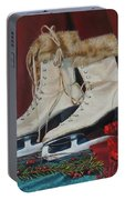 Ice Skates And Mittens Portable Battery Charger