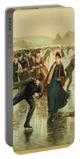 Ice Skating, C1886 Portable Battery Charger