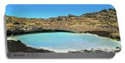 Iceland Blue Lagoon Exploring The Lava Fields Portable Battery Charger