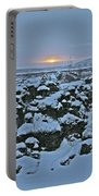 Iceland Lava Field Sunrise Mountains Clouds Iceland 2 2112018 1024jpg Portable Battery Charger