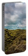 Iceland Moss And Clouds Portable Battery Charger