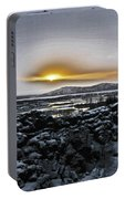Iceland Sunrise Iceland Lava Field Streams Sunrise Mountains Clouds Iceland 2 2112018 1095.jpg Portable Battery Charger