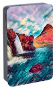 Iceland Waterfalls Portable Battery Charger
