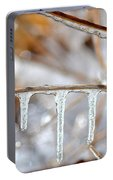 Icicles And Bokeh Portable Battery Charger