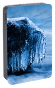 Icicles On The Rocks Portable Battery Charger