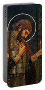 Icon Of Reverend Prince Alexander Nevsky. Saint Petersburg Portable Battery Charger