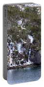 Icy Cliff In Winter Portable Battery Charger