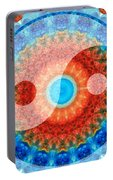 Ideal Balance Yin And Yang By Sharon Cummings Portable Battery Charger