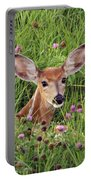 Id'st Hiding In The Flowers Portable Battery Charger