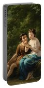 Idyll In The Forest Interior Portable Battery Charger