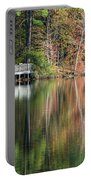 Idyllic Autumn Reflections Portable Battery Charger