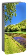Idyllic Krka River In Knin Landscape Portable Battery Charger
