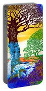 If A Tree Falls In Sicily Color 2 Portable Battery Charger