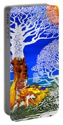 If A Tree Falls In Sicily White Portable Battery Charger