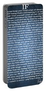 If Poem Blue Canvas Portable Battery Charger
