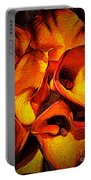 If Van Gogh Painted Calla Lilies Portable Battery Charger