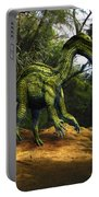Iguanodon In The Jungle Portable Battery Charger