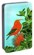 IIwi Scarlet Honeycreeper Bird #54 Portable Battery Charger
