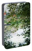 Ile De La Grande Jatte Through The Trees Portable Battery Charger