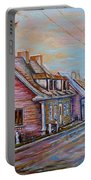Iles D'orleans Quebec Village Scene Portable Battery Charger