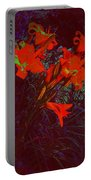 Illuminated Daylillies  Portable Battery Charger