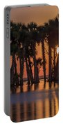 Illuminated Palm Trees Portable Battery Charger