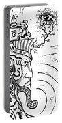 Surrealism Illuminati Black And White Portable Battery Charger